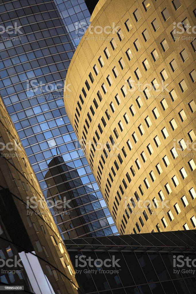 Modern Buildings at La Defense royalty-free stock photo