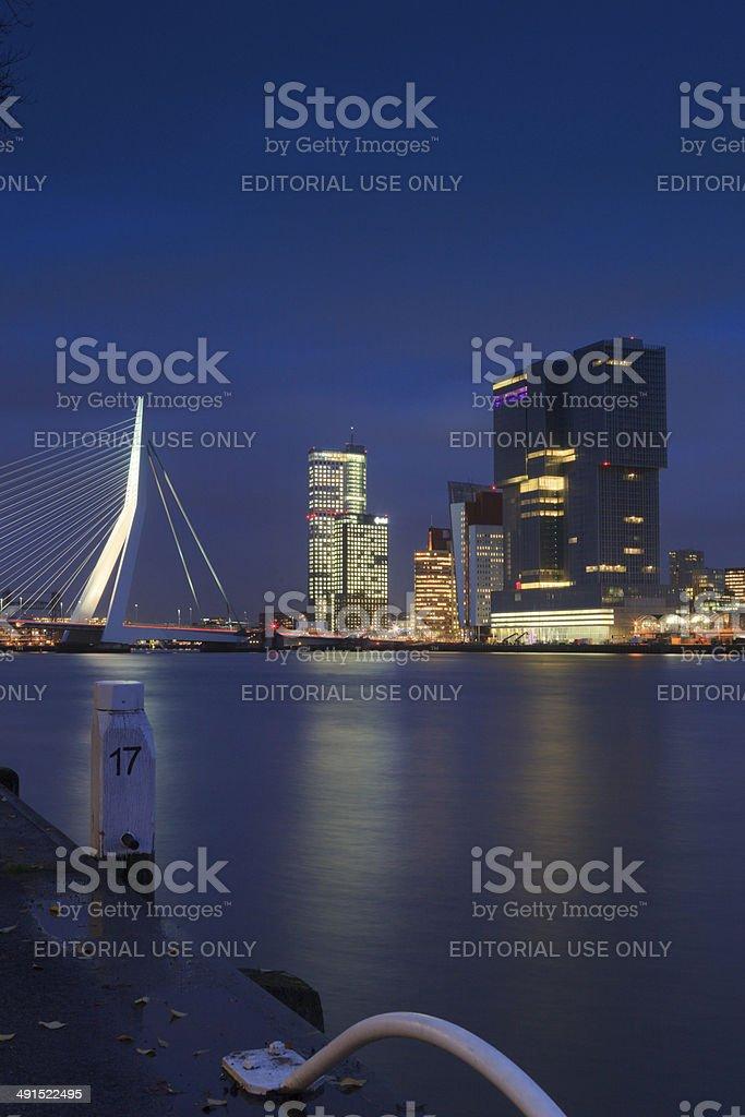modern buildings at Rotterdam's Kop van Zuid stock photo