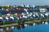 Modern buildings at the phoenix-lake in Dortmund (Nordrhein Westfalen) Germany