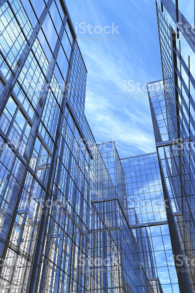 Modern Buildings, Courtyard royalty-free stock photo