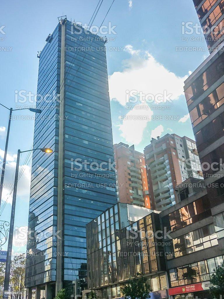 Modern Buildings in Bogota Colombia stock photo