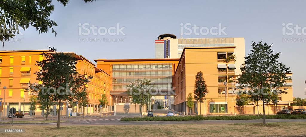 Modern buildings in Brescia royalty-free stock photo