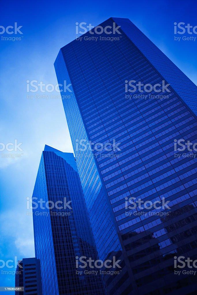 modern buildings in calgary stock photo