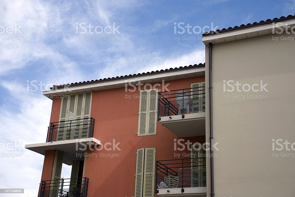 Modern buildings in Frejus royalty-free stock photo