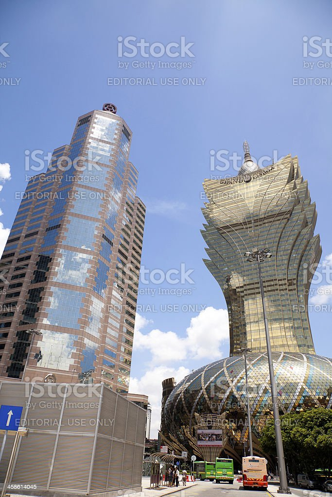 modern buildings in Macao stock photo