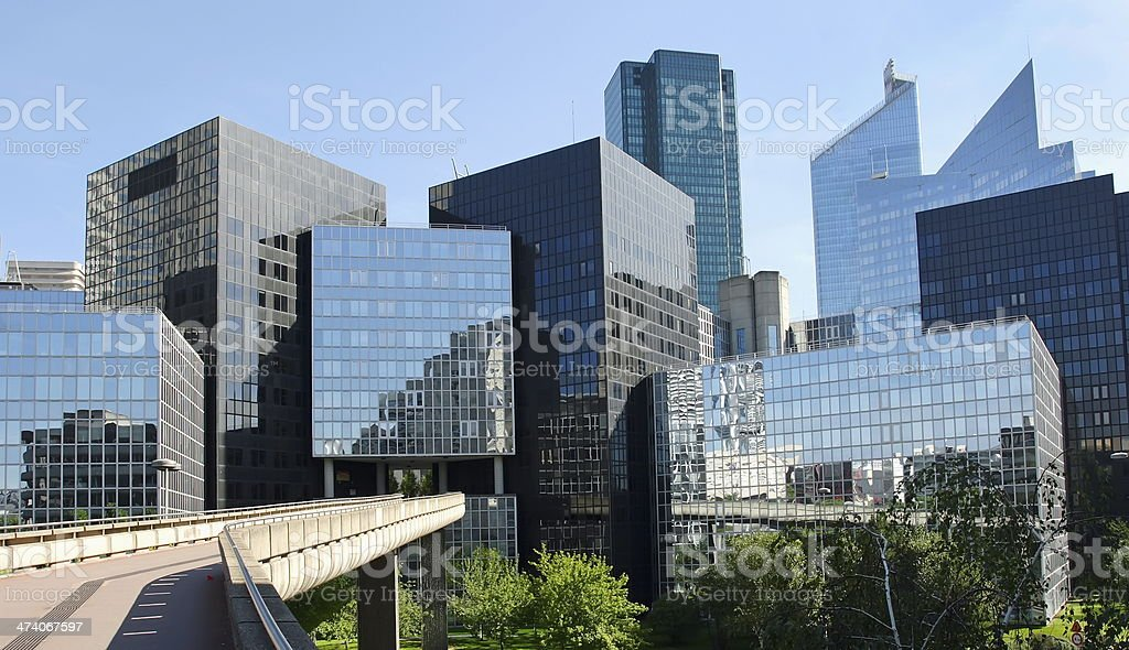 Modern buildings in the business district of La Defense stock photo