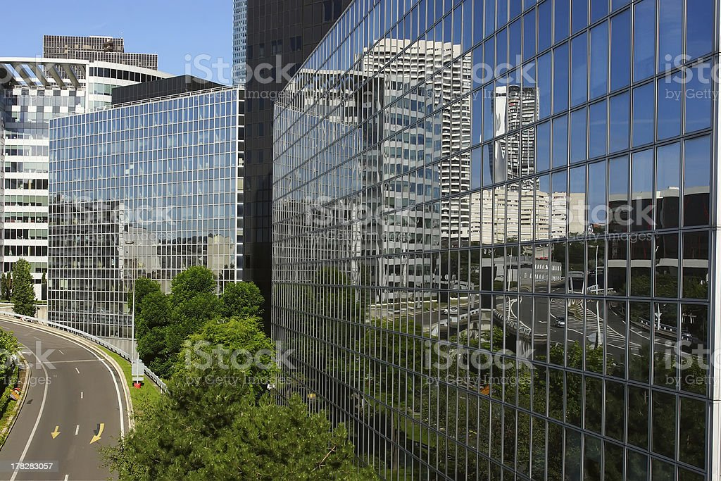 Modern buildings in the business district royalty-free stock photo