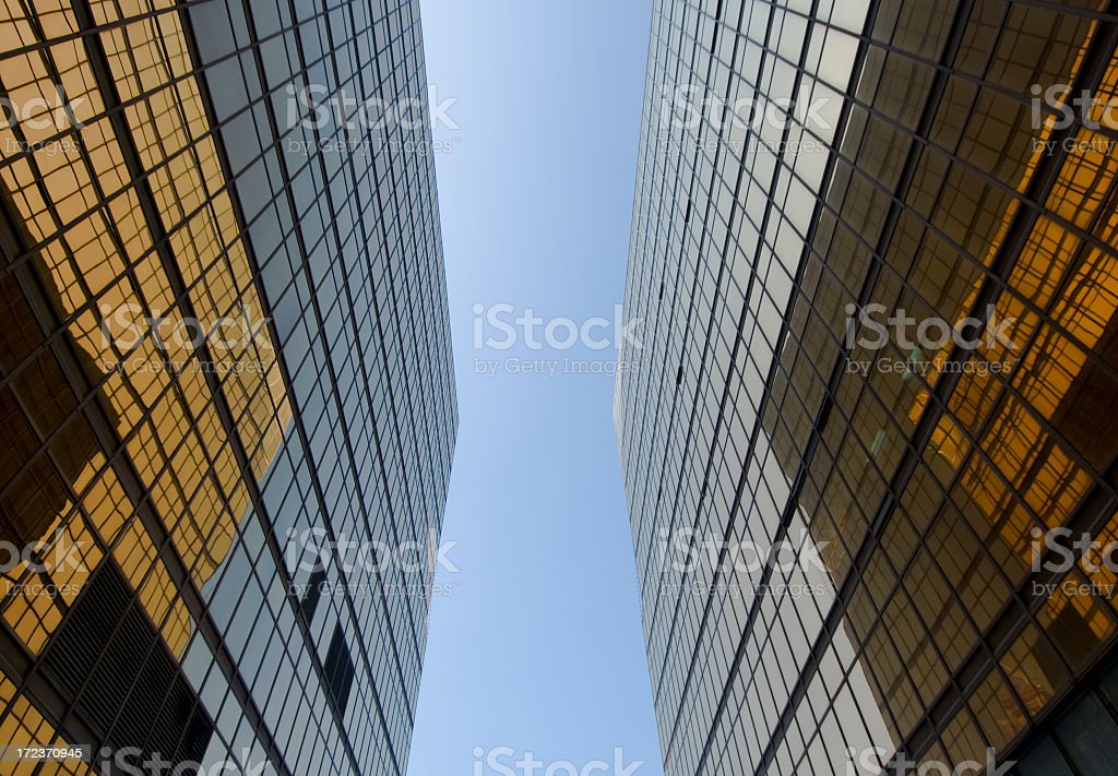 Modern Buildings Reflecting Eachother royalty-free stock photo