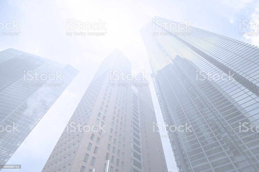 modern buildings, upward view stock photo