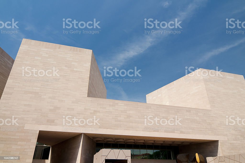 Modern Building--US National Gallery of Art stock photo