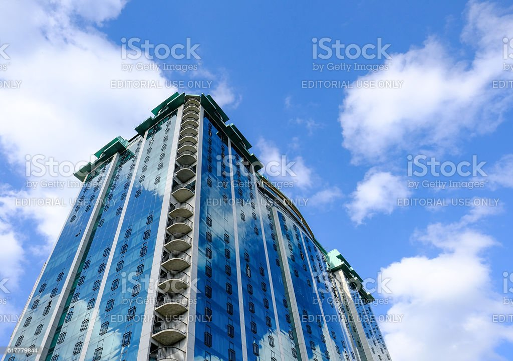Modern Built Multistorey Hotel Architecture stock photo