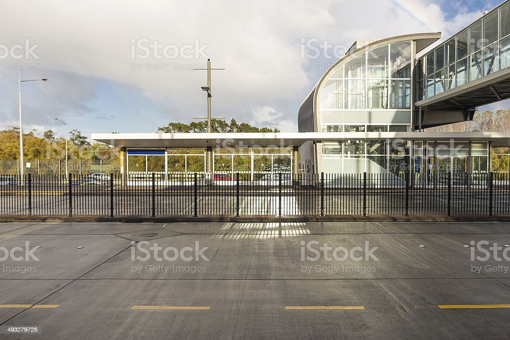 Modern bus station royalty-free stock photo