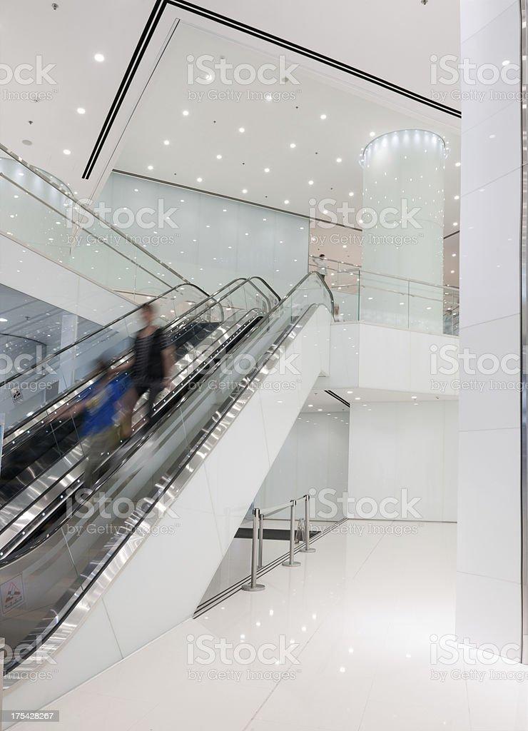 Modern Business & Shopping Escalator (XXXL) stock photo