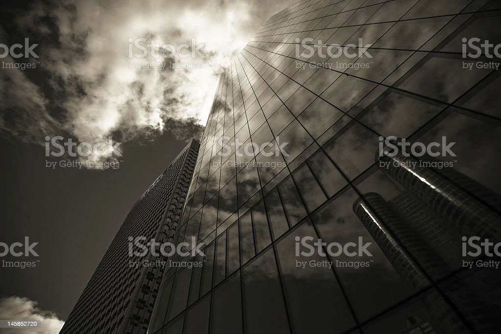 Modern business architecture (black and white) royalty-free stock photo