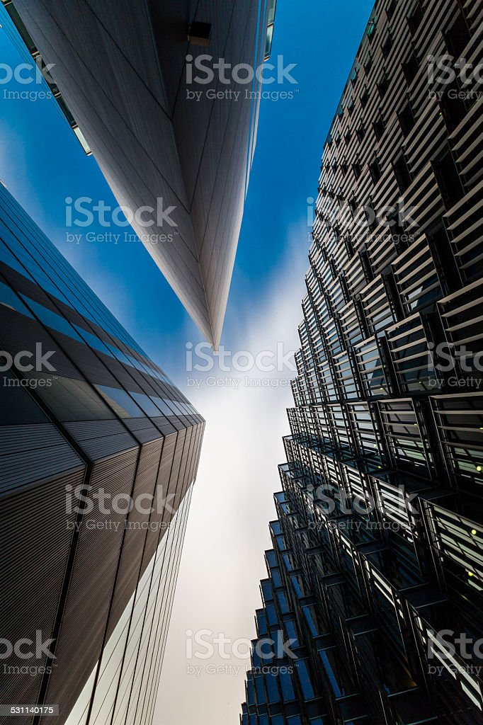 Modern Business buildings in London's Financial District stock photo