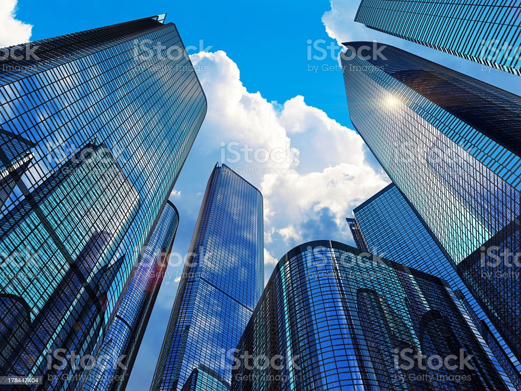 Modern business buildings stock photo