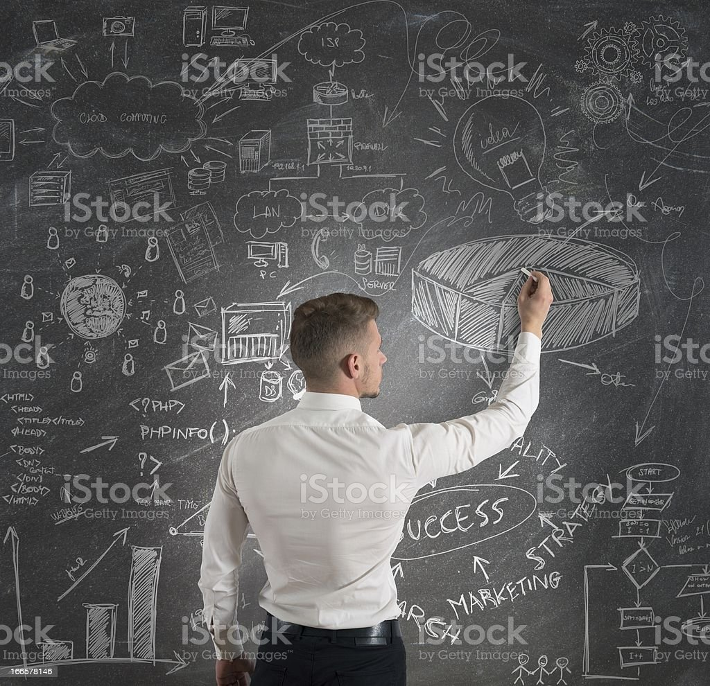 Modern business concept royalty-free stock photo