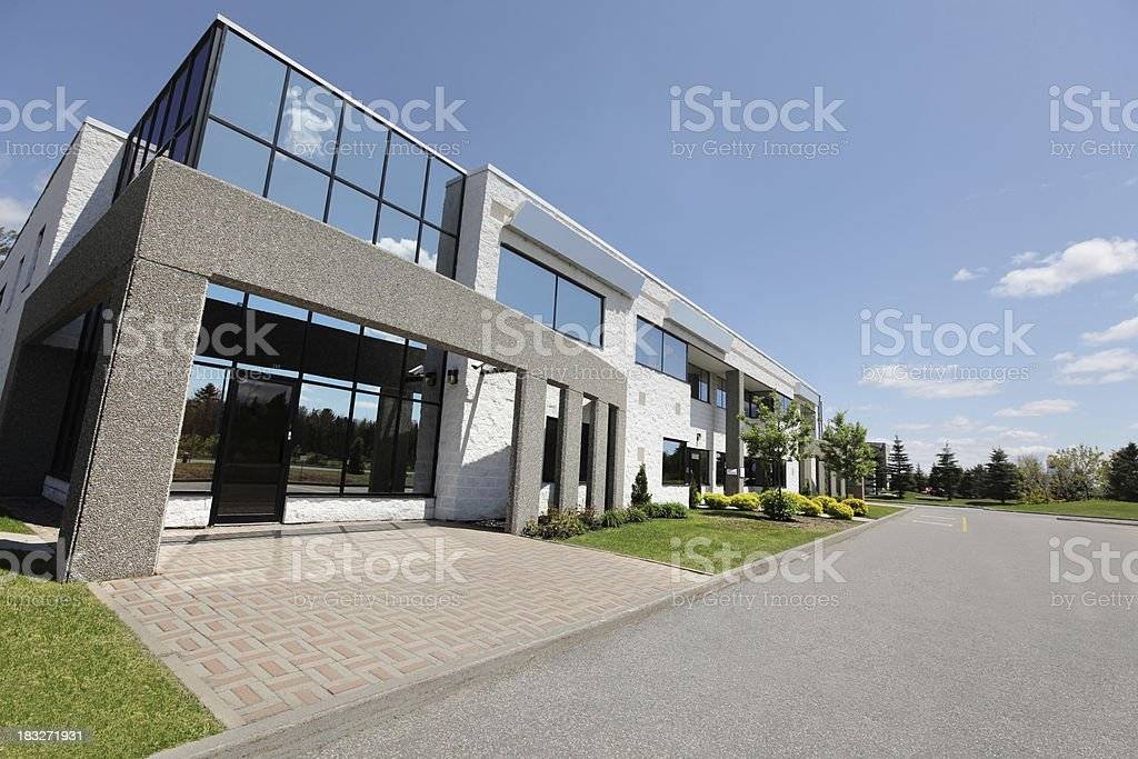 Modern Business Entrance stock photo