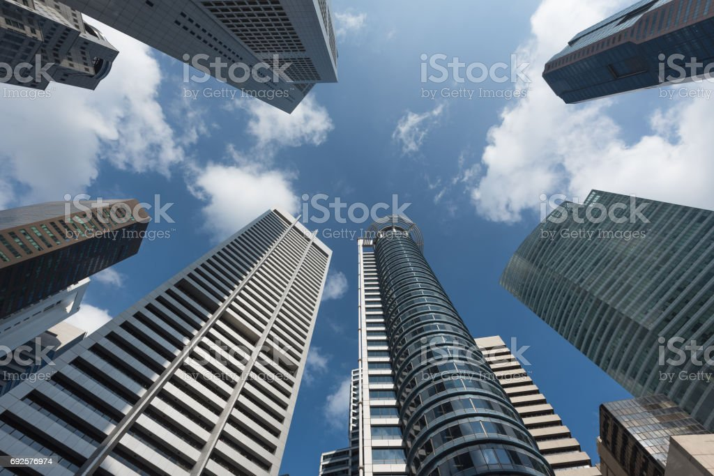 Modern business office skyscrapers stock photo