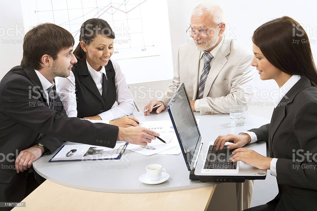 Modern business people work at a seminar royalty-free stock photo