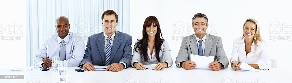 Modern business people working in an office royalty-free stock photo