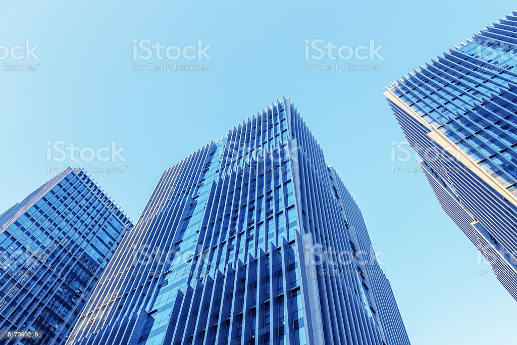 Modern business skyscrapers. stock photo