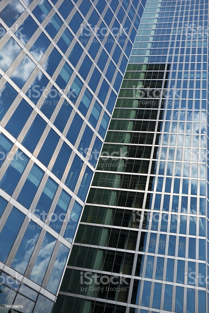 Modern Business Towers, Angled View royalty-free stock photo