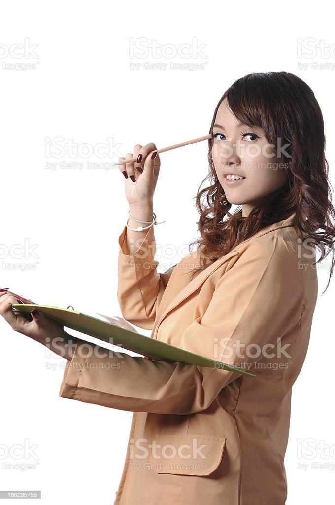 Modern business woman stock photo