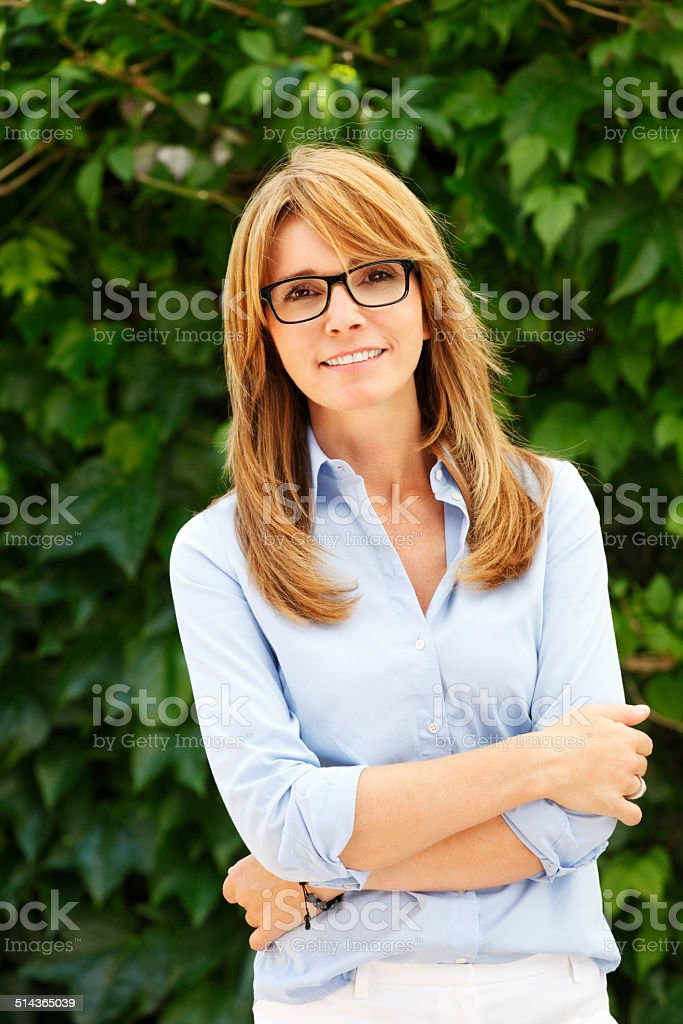 Modern business woman portrait stock photo