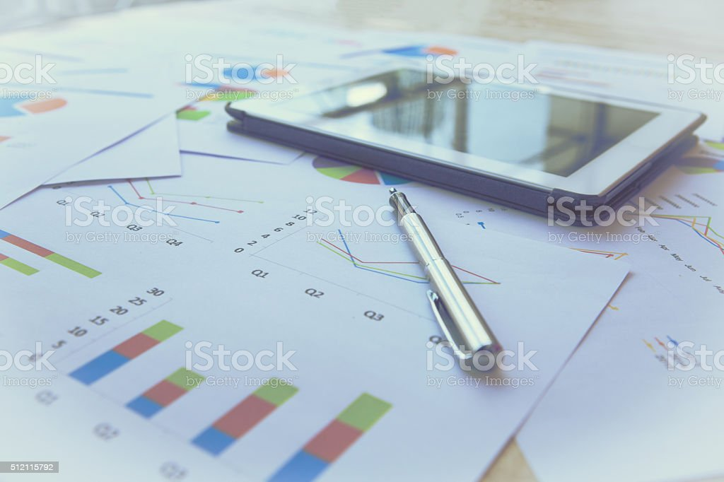 Modern business workplace stock photo