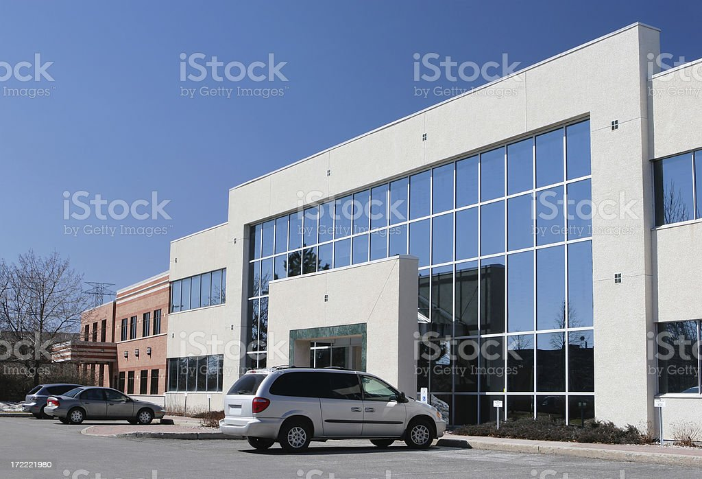 Modern Businesses District royalty-free stock photo