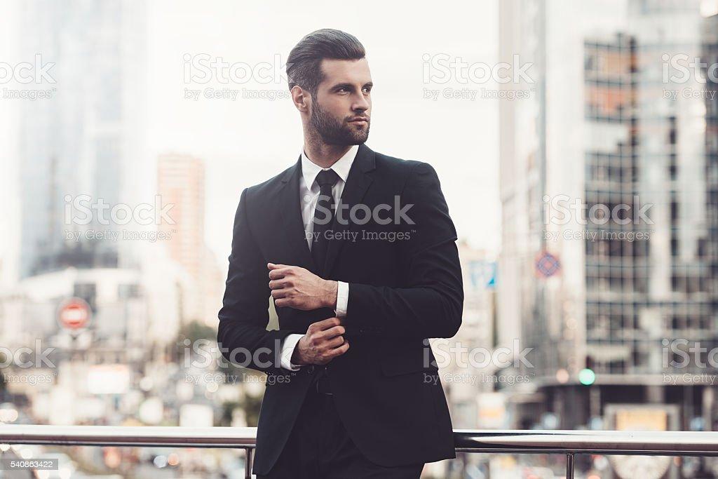 Modern businessman. stock photo