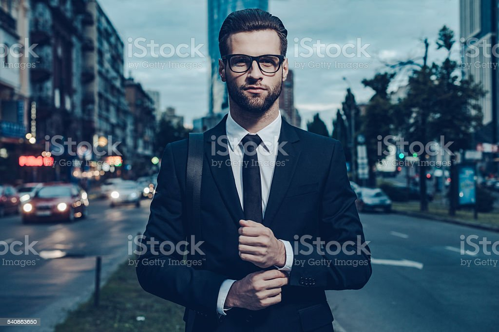 Modern businessman. stock photo