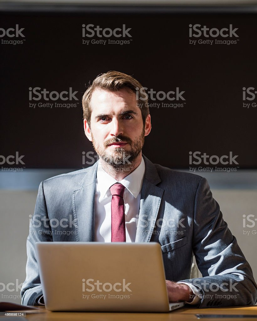 Modern Businessman Portrait stock photo