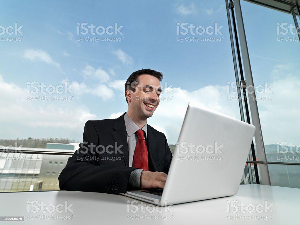 Modern Businessman Smiling royalty-free stock photo