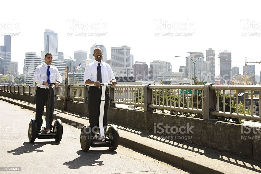 Modern Businessmen on The Move royalty-free stock photo