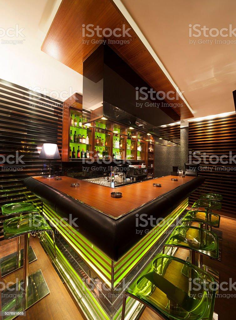 modern cafe bar interior stock photo