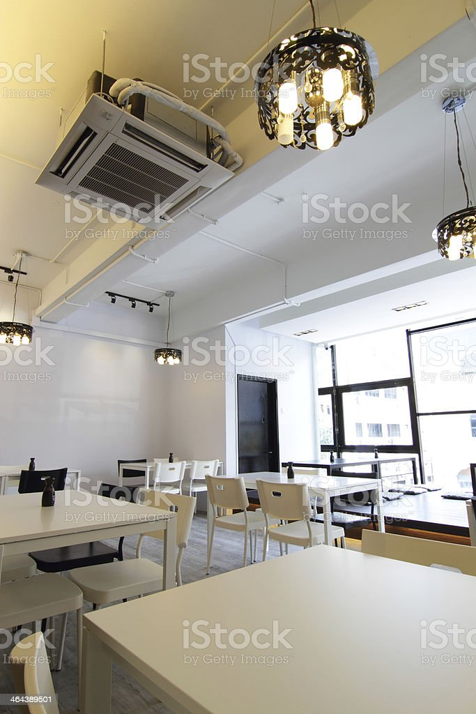 Modern cafe or restaurant royalty-free stock photo