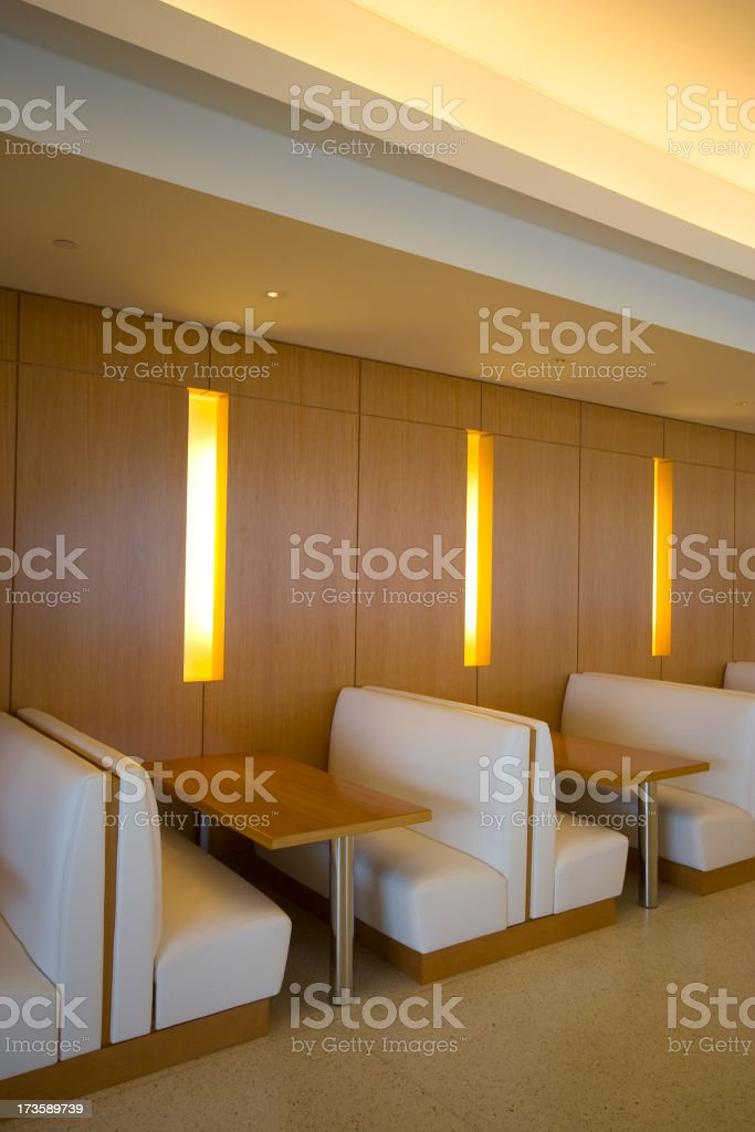 modern cafeteria booth stock photo