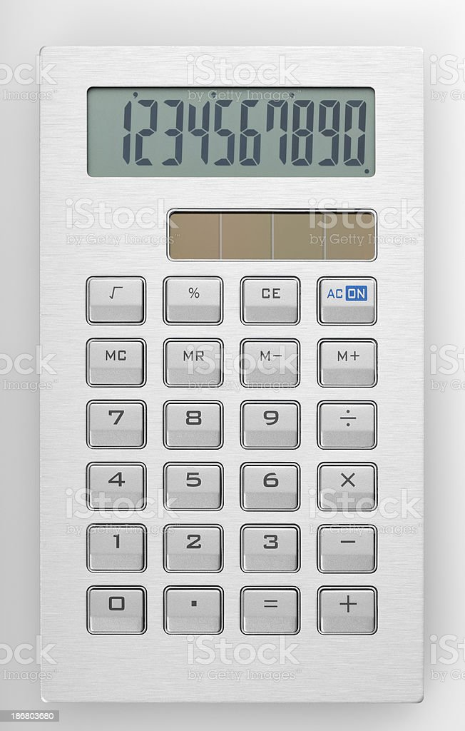 Modern calculator with solar cell royalty-free stock photo