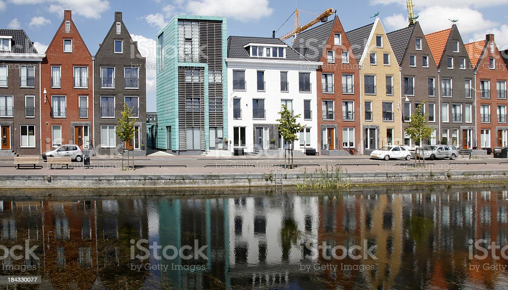 Modern Canal houses stock photo