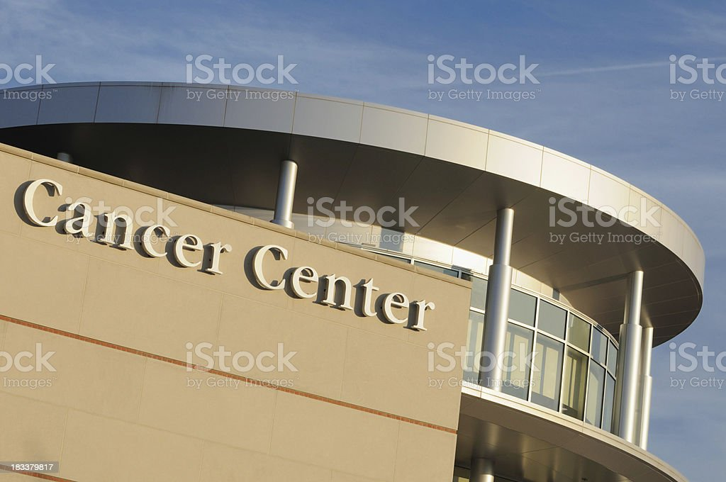 Modern cancer center royalty-free stock photo