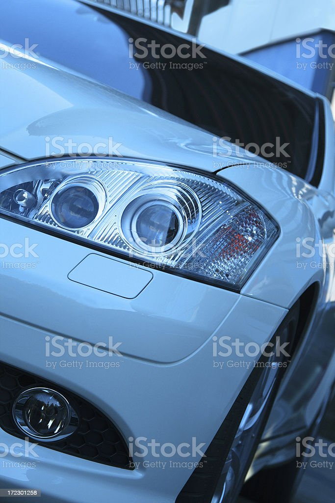 Modern Car Close Up stock photo