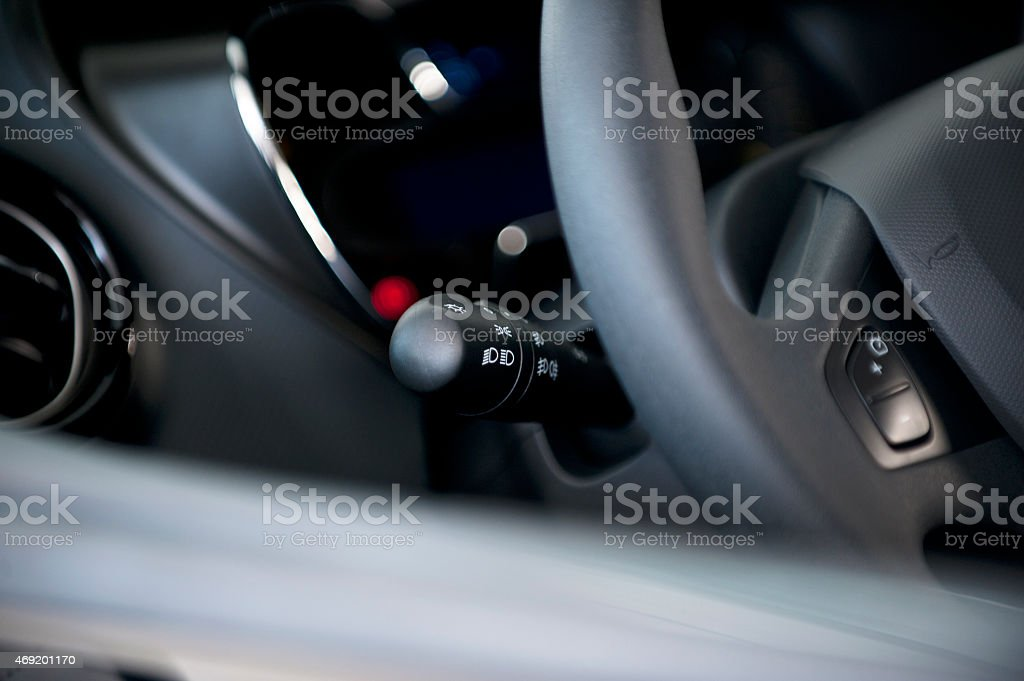 Modern car cockpit stock photo
