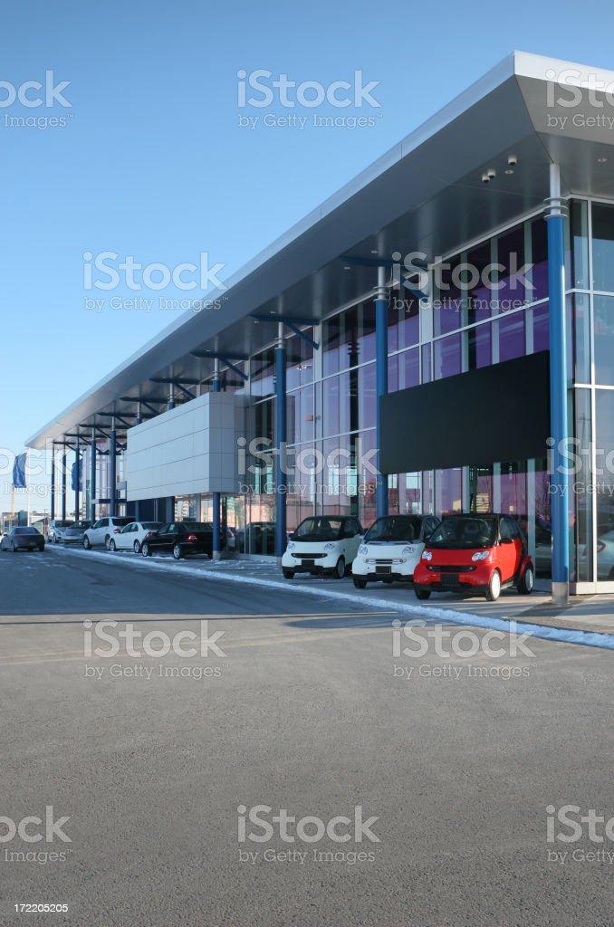 Modern Car Dealership stock photo
