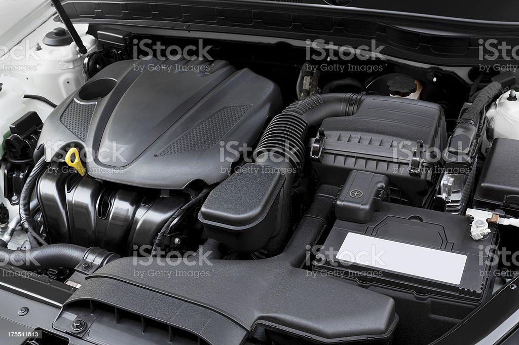 Modern Car Engine stock photo
