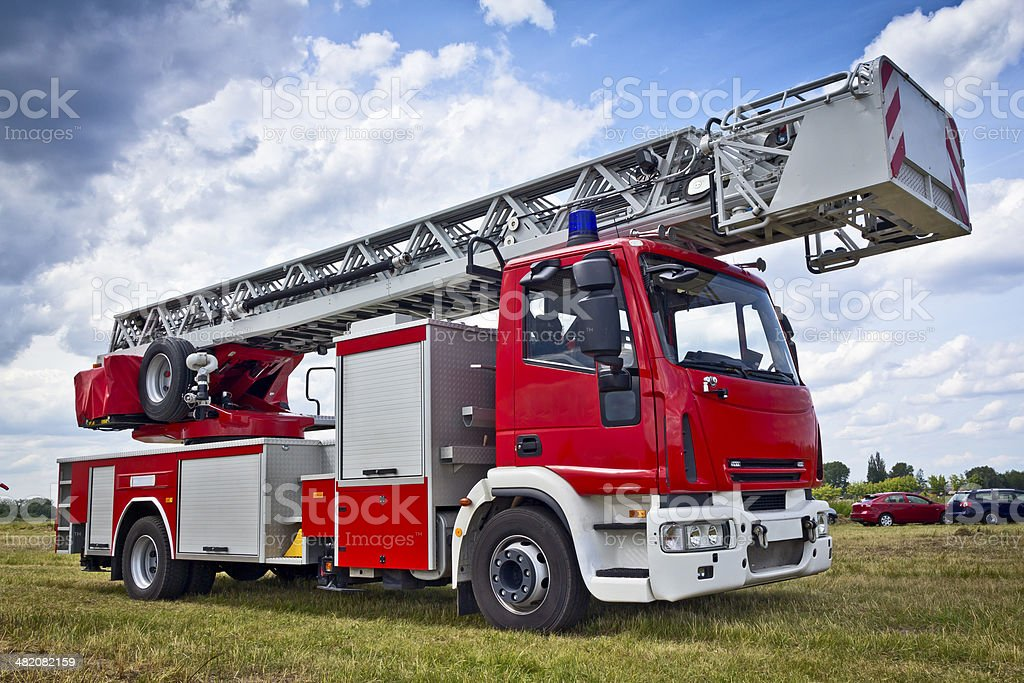 Modern car fire engine royalty-free stock photo