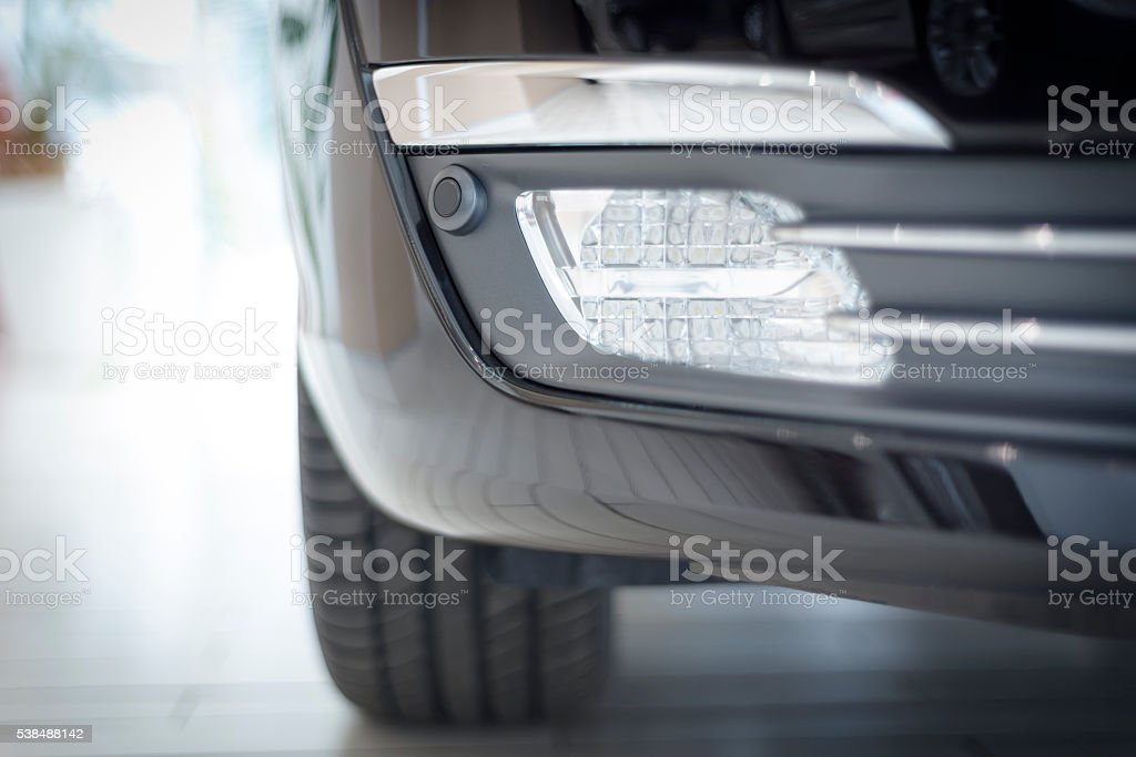 modern car fog light stock photo