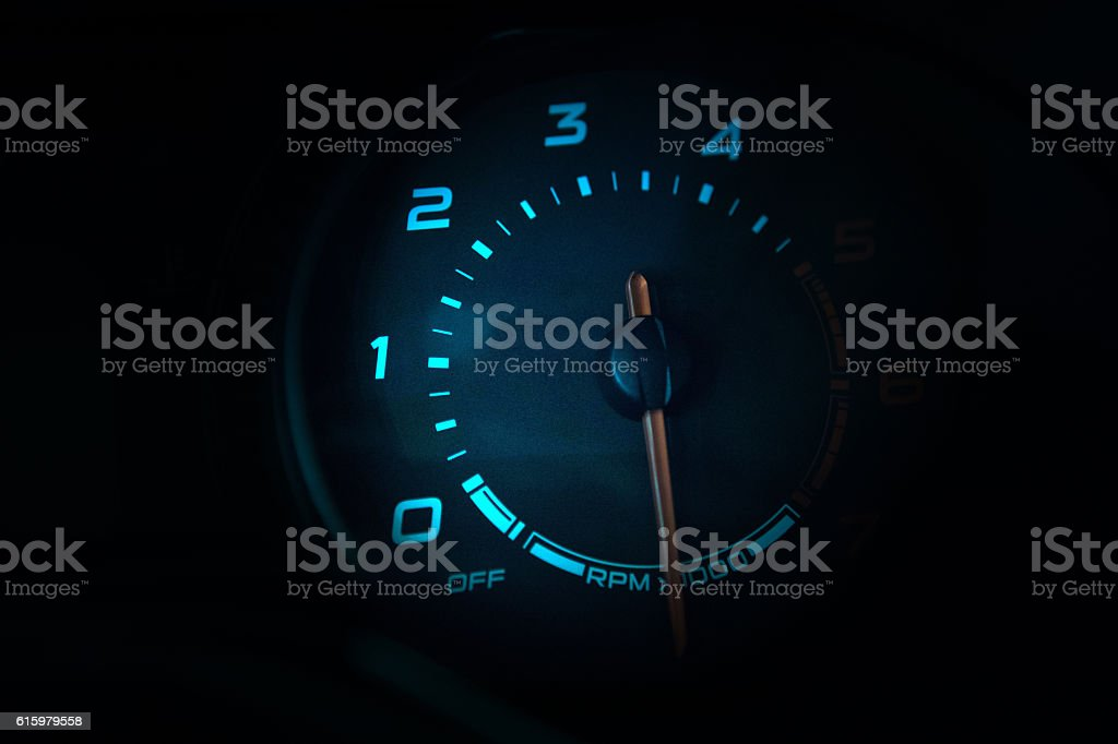 Modern car instrument dashboard stock photo