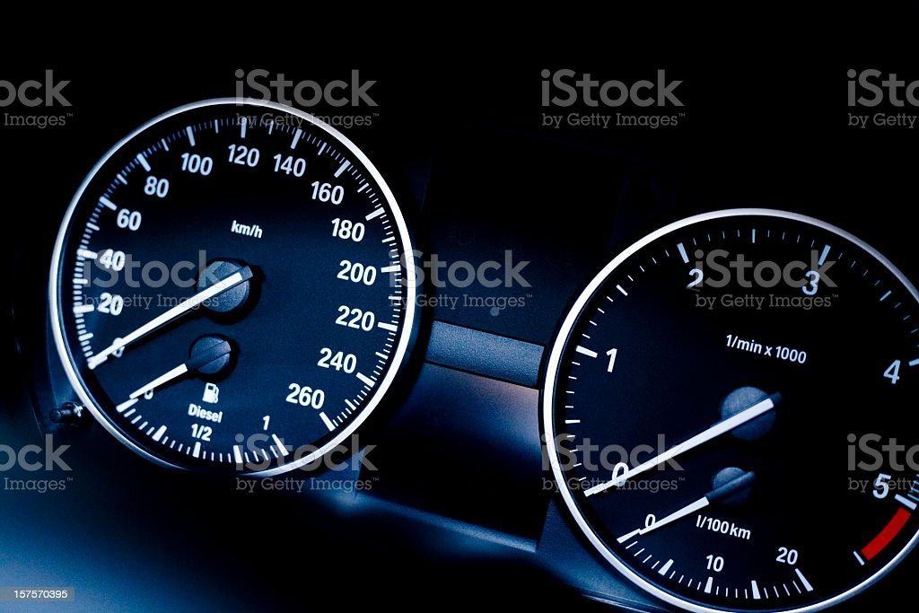 modern car instrument panel stock photo